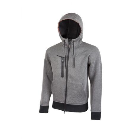 U-POWER PE119GM SUDADERA TASTY GREY METEORITE