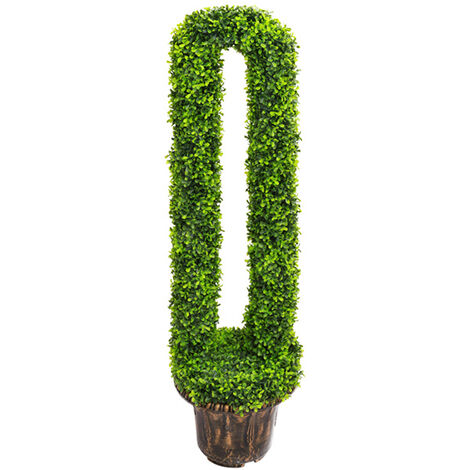 U-Shape Topiary Trees Potted Artificial Fake Grass Plant Tree Ball