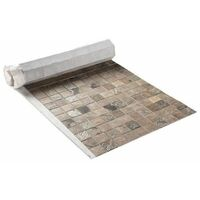 U-TILE Mosaique en pierre naturelle 100 x 50 cm - carreau 5 x 5 cm - mixte beige