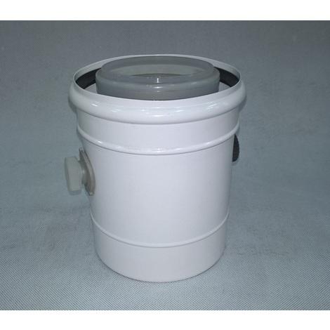 Ubbink 541664 - Adaptateur de condensation diam. 80M/125M-80F/125F PPTL/galva - blanc