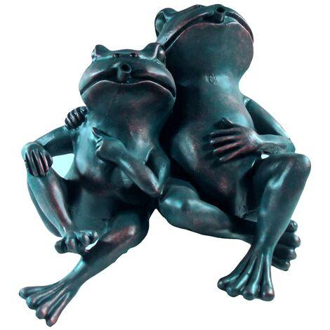 Ubbink Fontaine de jardin 2 grenouilles 22 cm 1386074