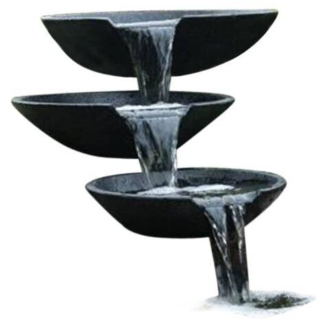 Ubbink Fontaine de jardin Cascade 3 vasques avec pompe 35/45/55 cm