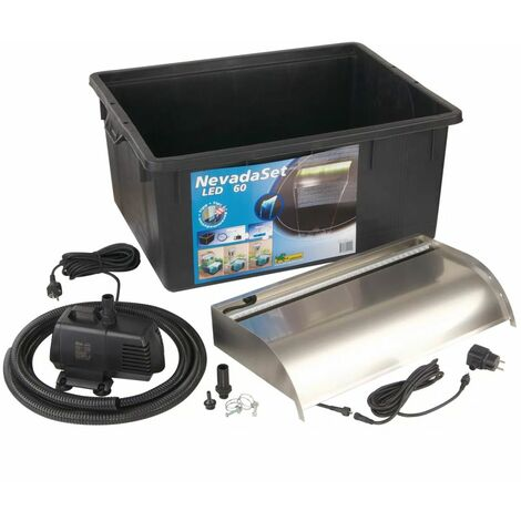 Ubbink Nevada 60 LED Kit Cascade pour bassin de jardin
