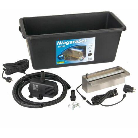 Ubbink Niagara 30 cm LED Kit Cascade pour bassin de jardin8313-A