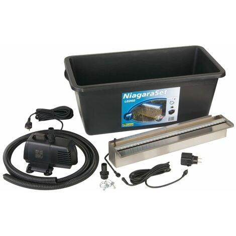 Ubbink Niagara 60 cm LED Kit Cascade pour bassin de jardin