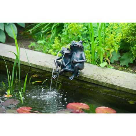 """main image of """"Ubbink Water Feature 2 Frogs 22 cm 1386074 - Brown"""""""