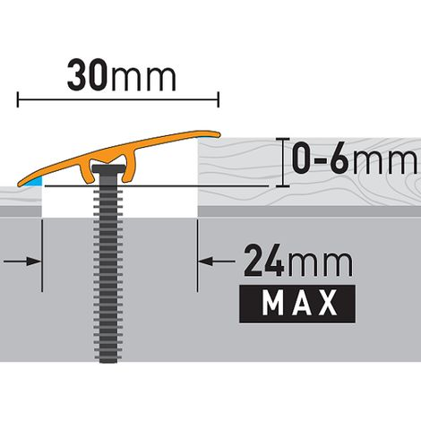Übergangsprofil 30x5,4x930 mm Alu Profil 3 in 1 Ausgleichs- Abschluss- Höhenausgleichprofil Silber