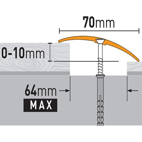 Übergangsprofil 70x6,55x930 mm Aluminiumprofil Silber Übergangsleiste Bodenprofil Aluprofil