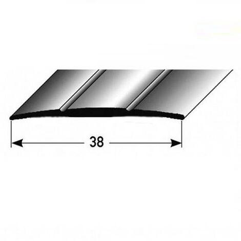 """Übergangsprofil """"Den Helder"""" / Übergangsschiene, 38 mm, Typ: 12 (Aluminium eloxiert):-silber-900-gebohrt"""