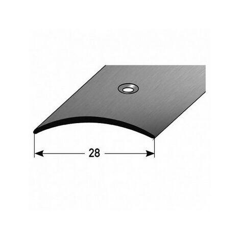 """Übergangsprofil """"Rotterdam"""" / Übergangsschiene / Übergangsleiste 28 mm (Edelstahl, 1 mm Stäke):"""