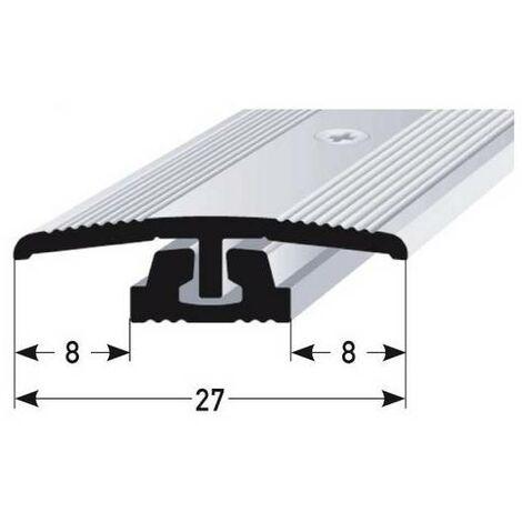 """Übergangsprofil / Übergangsschiene für Vinyl / Parkett / Laminat """"Wallingford"""", für Höhe 4 - 7 mm, 27 mm breit, 2-teilig, Aluminium eloxiert, gebohrt"""
