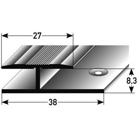 """Übergangsprofil / Übergangsschiene Laminat """"Madoc"""", 8,3 mm Einfassung, 27 mm breit, 1-teilig, Aluminium eloxiert, gebohrt"""