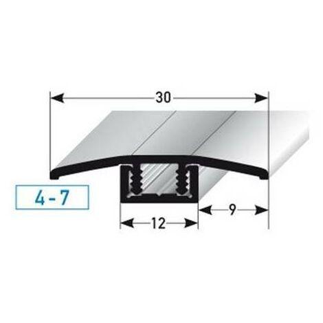"""Übergangsprofil / Übergangsschiene Laminat """"Pikeville"""", für Höhe 4 - 7 mm, 30 mm breit, 2-teilig, Aluminium eloxiert, gebohrt"""
