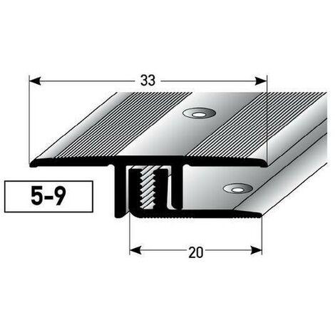 """Übergangsprofil / Übergangsschiene Laminat """"Richmond"""", für Höhe 5 - 9 mm, 33 mm breit, 2-teilig, Aluminium eloxiert, gebohrt"""