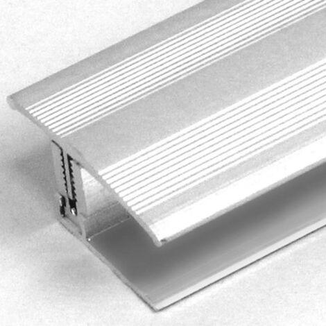 """Übergangsprofil / Übergangsschiene Laminat """"Yorkton"""", 12 - 22 mm, 35 mm breit, 3-teilig, Aluminium eloxiert, gebohrt, Flex"""