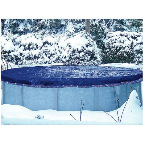 Überwinterungsabdeckung für oberirdisches Schwimmbecken 8,60 x 5,70 m für Schwimmbecken 7,60 x 4,70 m