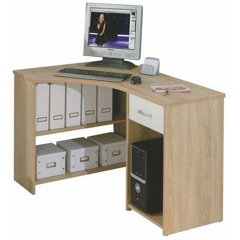 Ufficio libreria scrivania caprera angolare+cassetto rovere 118x79x75h - Inter Link