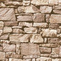 Ugepa 3D Effect Brick Brown/ Orange Wallpaper