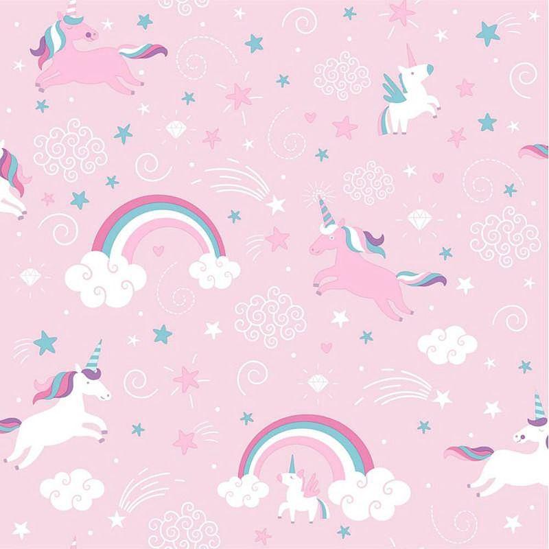 Ugepa Girls Pink Unicorn Wallpaper - WL