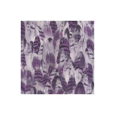 Ugepa Purple Black Wall Of Feathers Paste Wall Vinyl Wallpaper Designer Birds