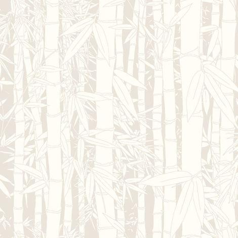 Ugepa White Bamboo Embossed Wallpaper