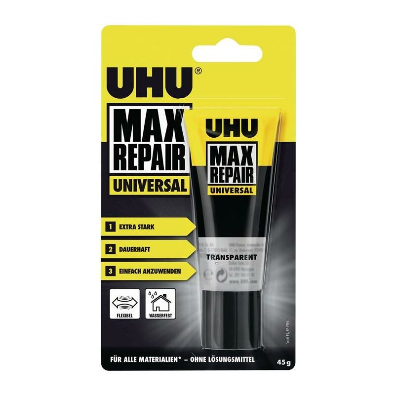 Colle universelle MAX REPAIR UNIVERSAL transparent 45 g - UHU