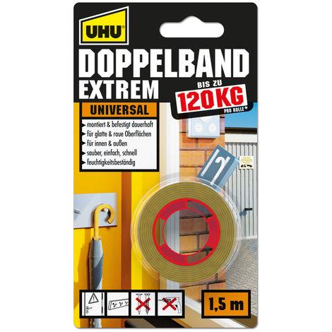 UHU Doppelband EXTREM doppelseitiges Montageband universal 1,5m x 19mm