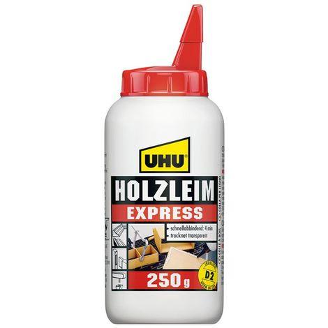 UHU Holzleim Express, schnelltrocknend, Weiß, 250 g