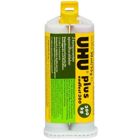 UHU PLUS ENDFEST 300 2-Komponenten Epoxidkleber, 50 ml, Doppelkammerkartusche