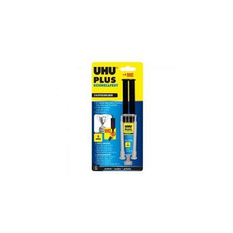 UHU Plus Schnellfest - ohne Lösungsmittel - 15 g- Infokarte