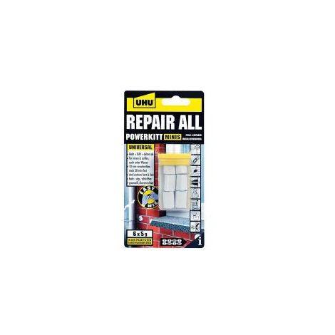 UHU Repair All Powerkitt - Klebstoff-Knetmasse Infokarte mit 6 Minis à 5 g