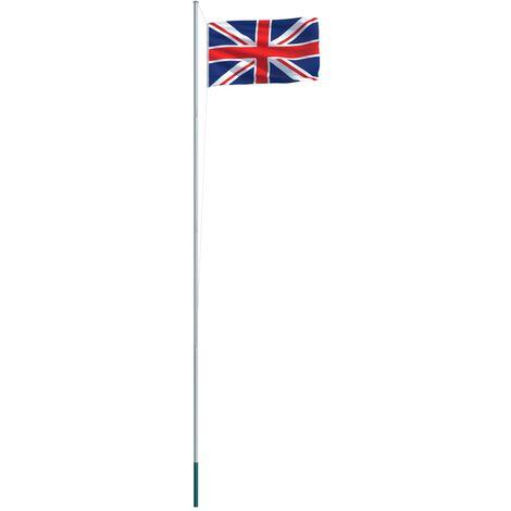 UK Flag and Pole Aluminium 6,2 m