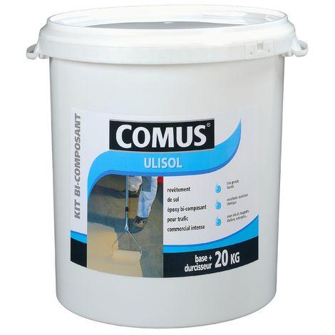 ULISOL GRIS CIMENT 4 KG - Revêtement de sol époxy pour sols soumis à un trafic commercial intense - COMUS