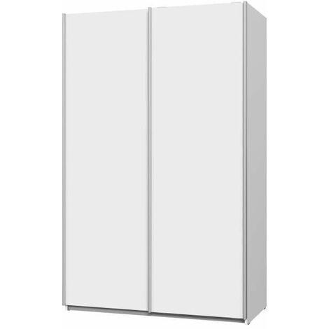 ULOS Armoire 2 portes coulissantes - Blanc mat - L 120 x P 61 x H 191 cm