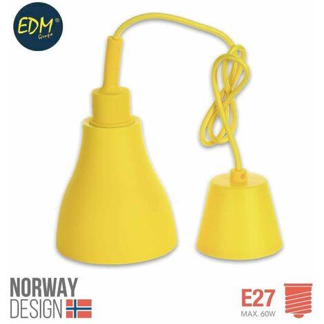 *ult. unidades* colgante de silicona norway design e27 60w amarillo edm