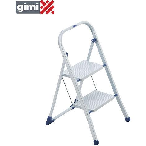 *ult. unidades* taburete escalera tiko 2 peldaños acero max 150kg gimi 154103