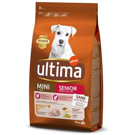 Ultima Chien Senior Mini Poulet, 1,5kg