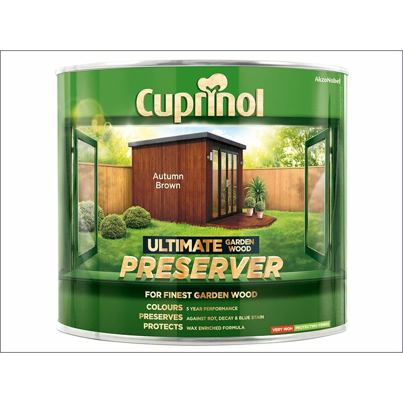 Image of Ultimate Garden Wood Preserver Autumn Brown 1 Litre ( GWPREAB1L) - CUP