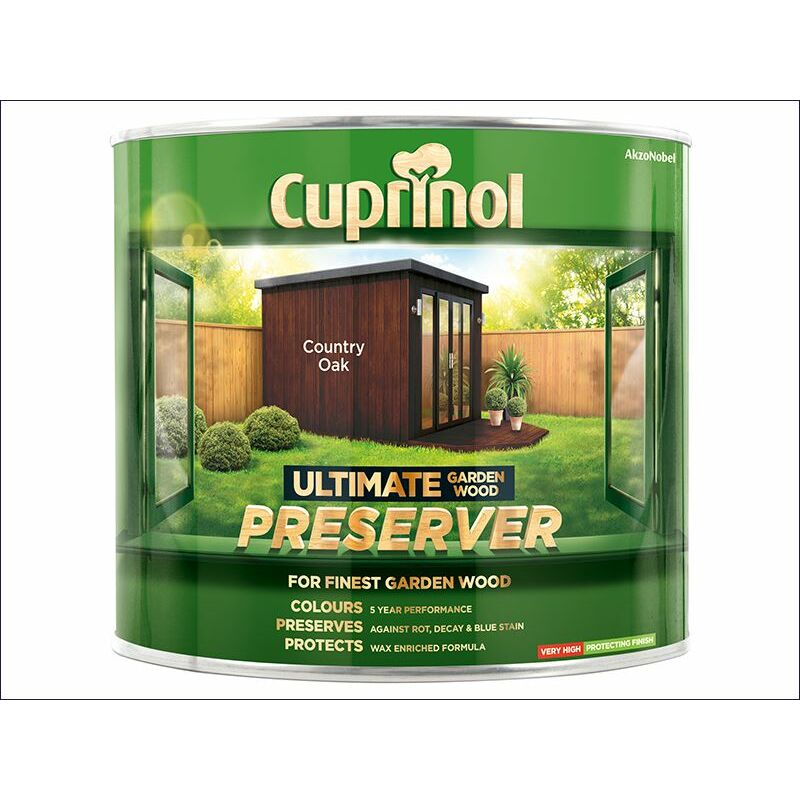 Image of Ultimate Garden Wood Preserver Country Oak 1 Litre ( GWPRECO1L) - CUP