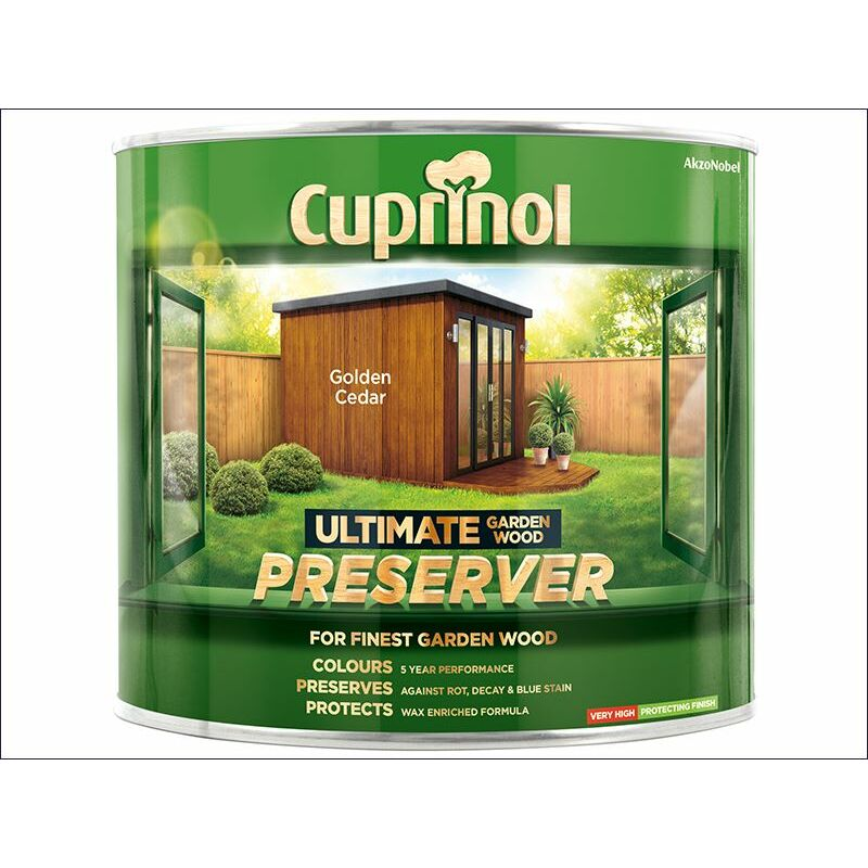 Image of Ultimate Garden Wood Preserver Golden Cedar 1 Litre ( GWPREGC1L) - CUP