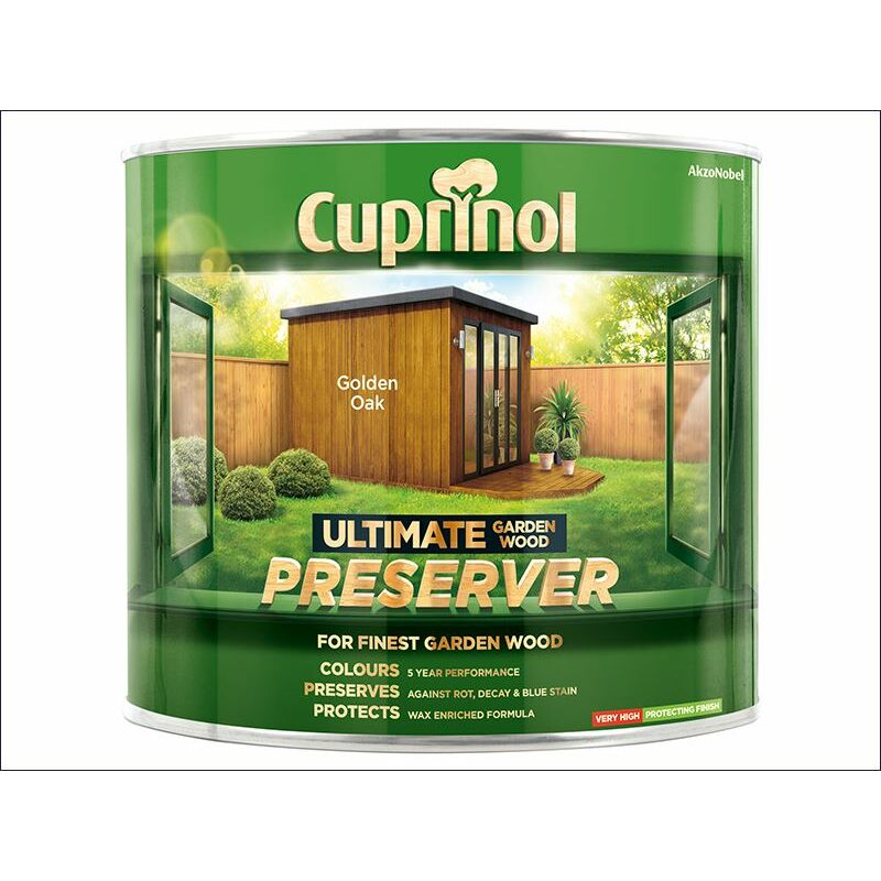 Image of Ultimate Garden Wood Preserver Golden Oak 1 Litre ( GWPREGO1L) - CUP