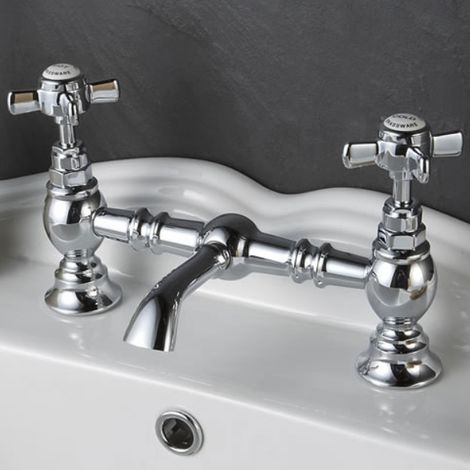 Ultra Beaumont Luxury Traditional Bridge Basin Mixer Tap