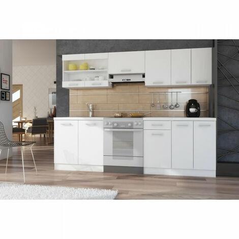 """main image of """"ULTRA Cuisine complete avec plan de travail L 2m40 - Blanc mat"""""""