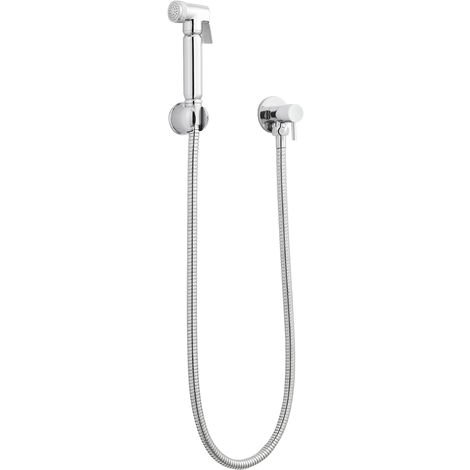 Nuie BW001 ǀ Modern Bathroom Toilet Accessories Manual Douche Spray Kit with Lever Handle, 25mm x 25mm, Chrome