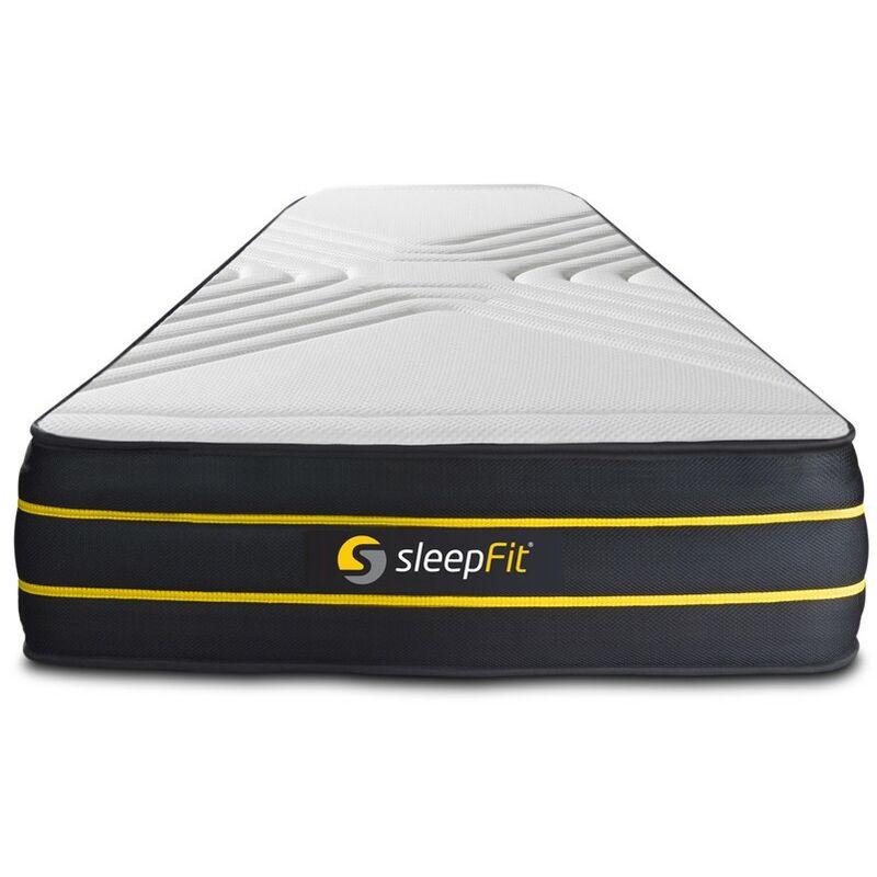 Sleepfit - ULTRA Matratze 75x190cm, Memory-Schaum und Mikro-Taschenfedern, Härtegrad 2, Höhe: 26cm, 7 Komfortzonen