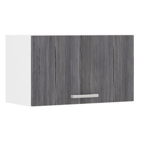 ULTRA Meuble hotte L 60 cm - Décor chene gris mat