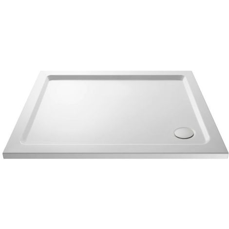 Ultra Pearlstone 1000 X 760mm Rectangular Low Profile Shower Tray