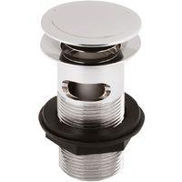 Ultra Push Button Basin Waste Slotted - EK303