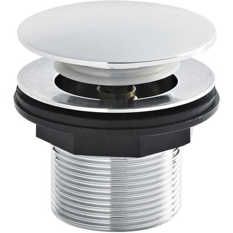 Nuie E324 ǀ Modern Bathroom Push Button Bath Waste, 70mm x 70mm, Chrome