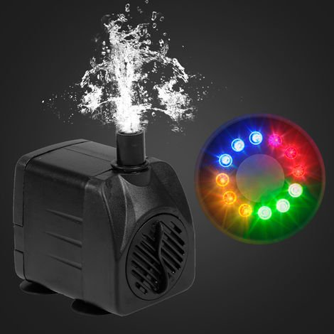 Ultra-quiet USB Water Pump with Power Cord IP68 Waterproof with 12 LED Light